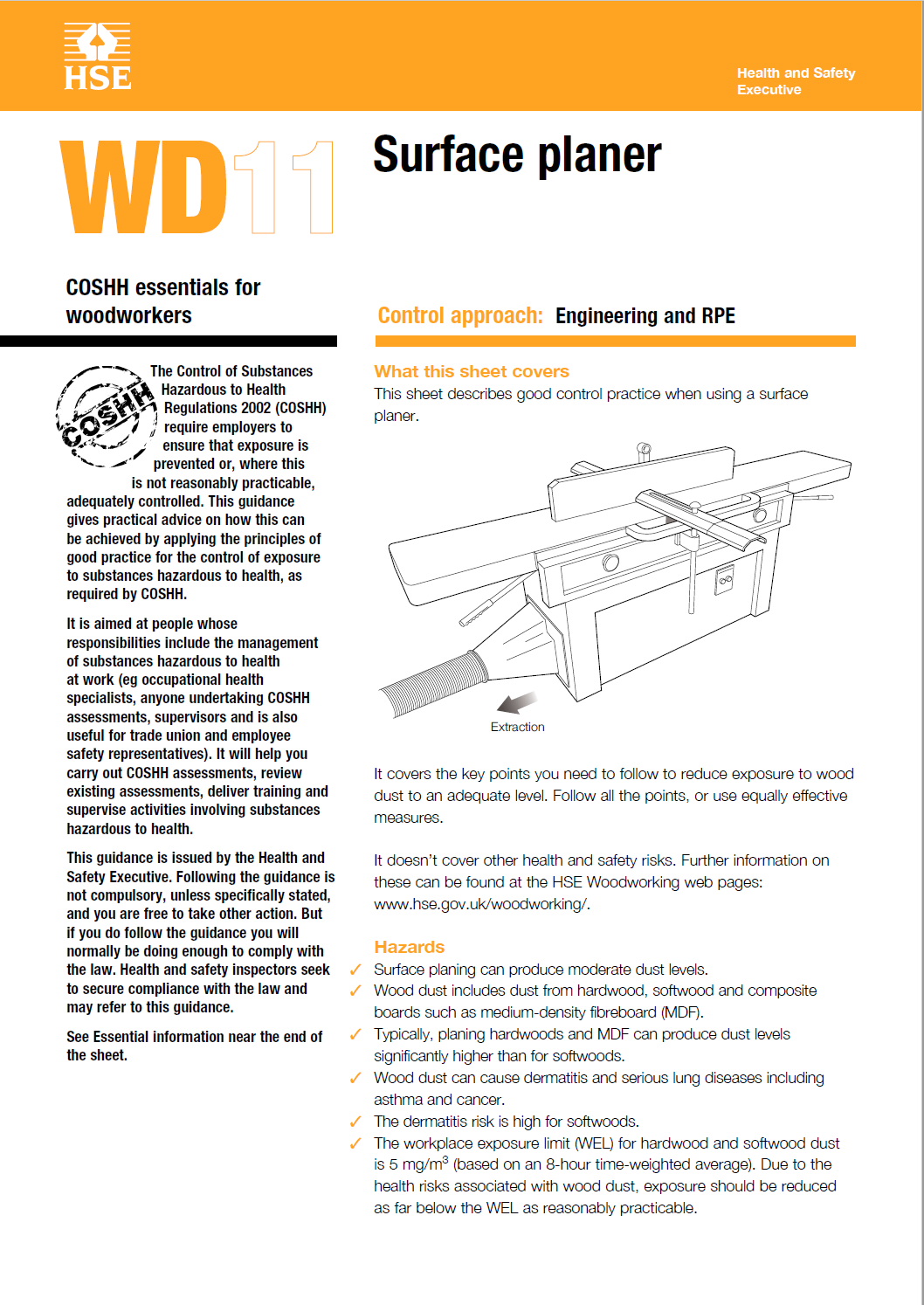 WD11: Surface planer