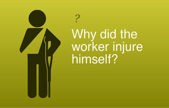 Why did the worker injure himself?