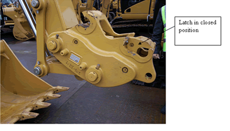 Quick hitch devices on excavators - New operational Guidance