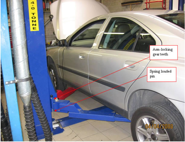 Working Auto Lift : Defective locking devices identified on modern post
