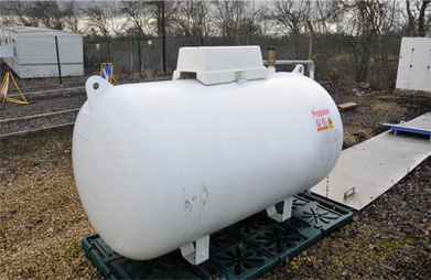 Bulk LPG storage tank - Safe use of LPG at small bulk install