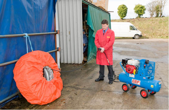 Tyre removal, replacement and inflation
