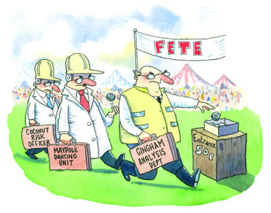 HSE inspectors at the local village fate