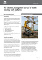 mobile elevating work platforms
