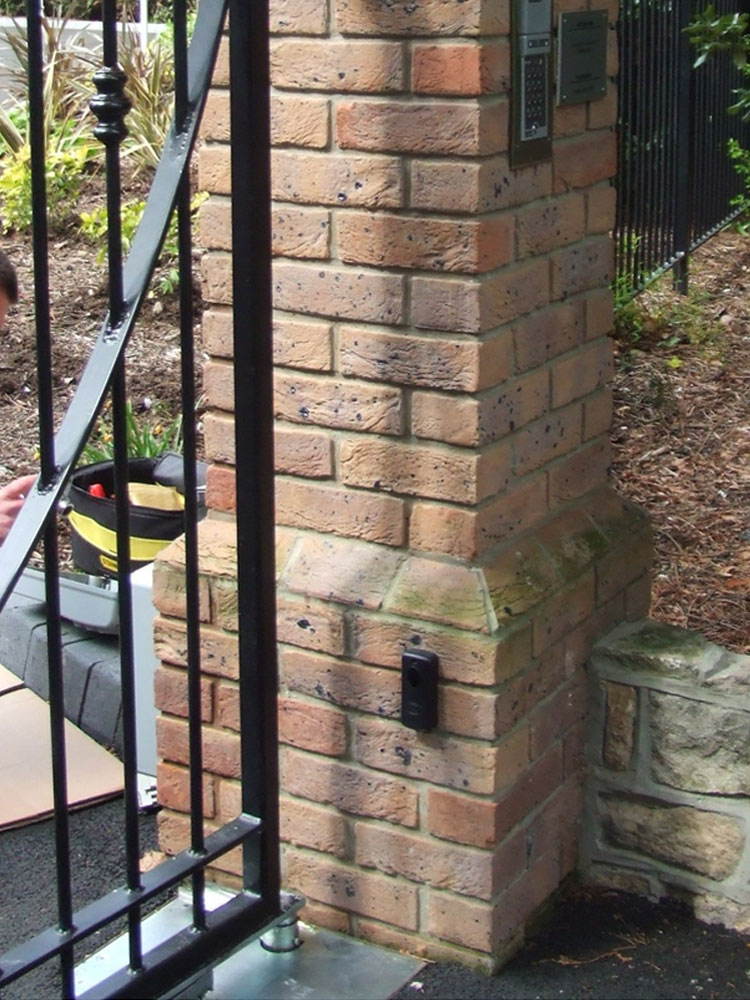 Photograph 1 Brick Pillars Corbelled Pillar Increasing Gap Size
