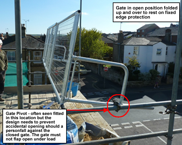 Hse Safety Alert Extendable Scaffolding Loading Bay Gate